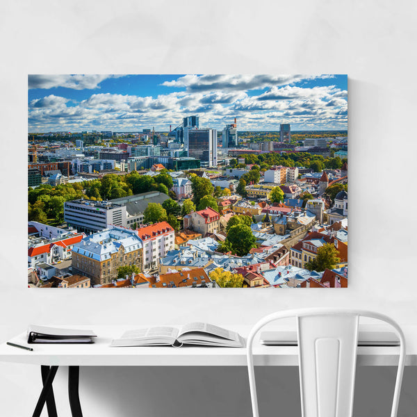Tallinn Old Town Europe Urban Art Print