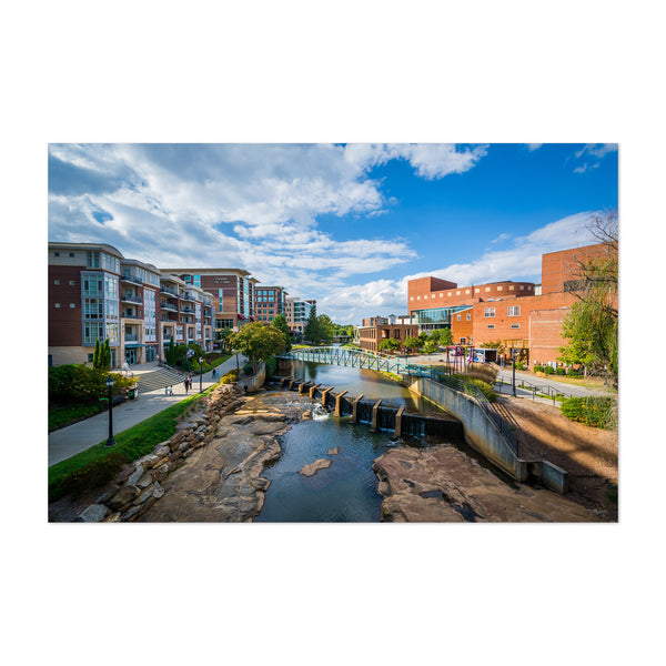Greenville, South Carolina City Art Print