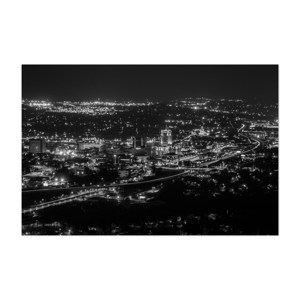 Roanoke Virginia City Skyline Art Print