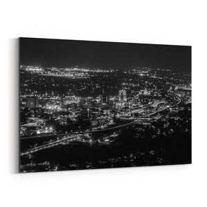 Roanoke Virginia City Skyline Canvas Art Print