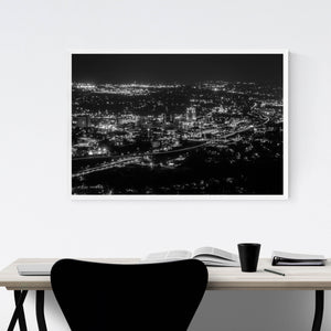 Roanoke Virginia City Skyline Framed Art Print