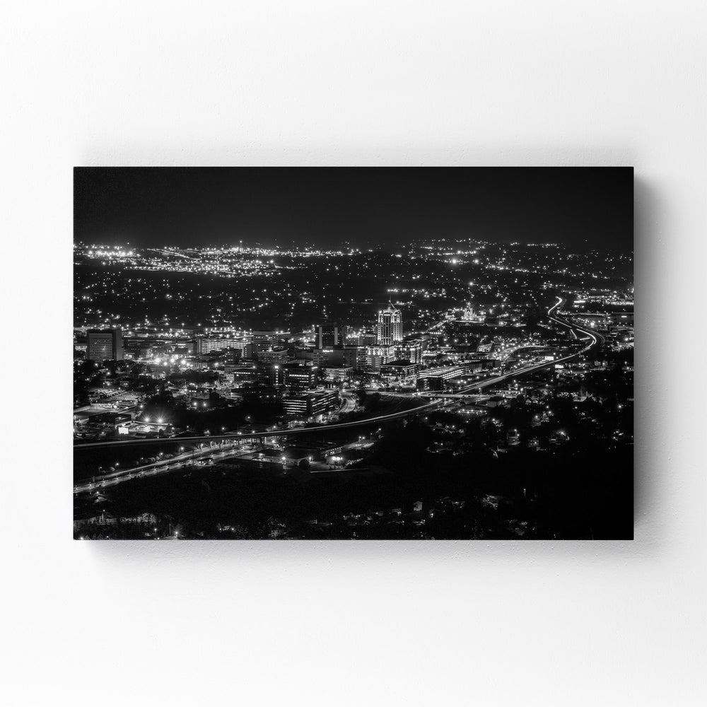 Roanoke Virginia City Skyline Mounted Art Print