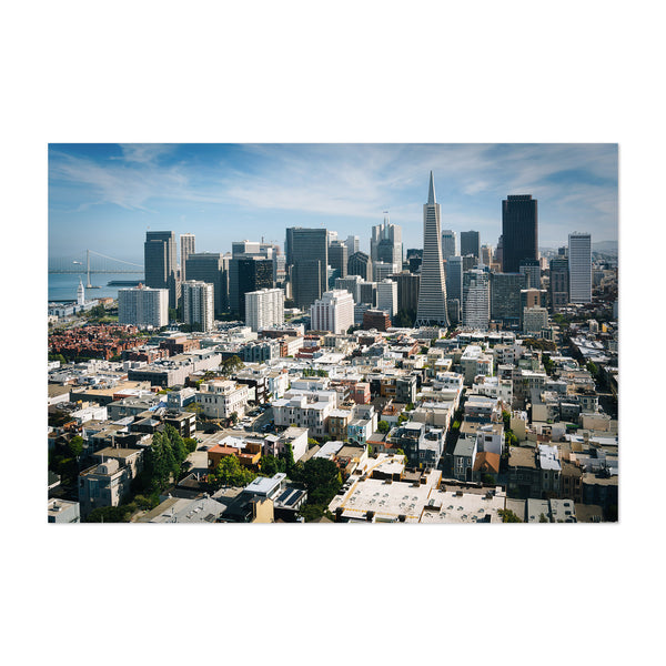 Skyline San Francisco California Art Print