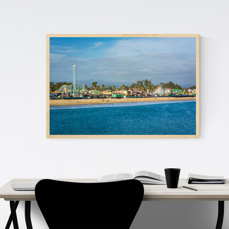 Santa Cruz California Boardwalk Framed Art Print