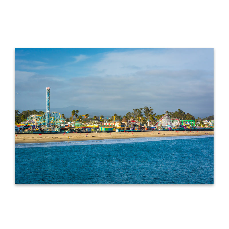 Santa Cruz California Boardwalk Metal Art Print