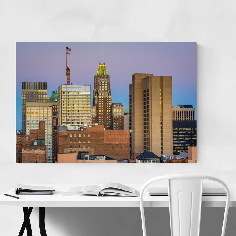 Baltimore MD Downtown Skyline Metal Art Print