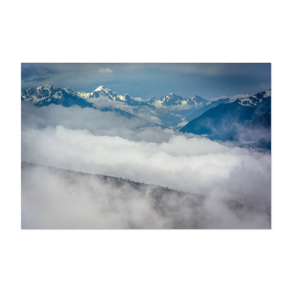 Washington Olympic Mountains Art Print