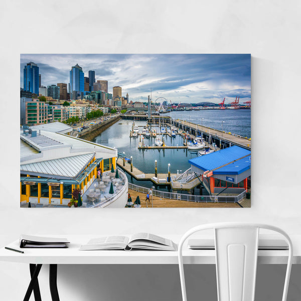 Seattle Waterfront Skyline Urban Art Print