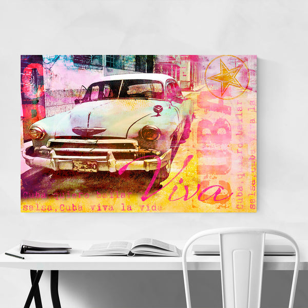Retro Car Havana Cuba Postcard Art Print