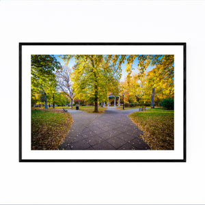 Baltimore Union Square Autumn Framed Art Print