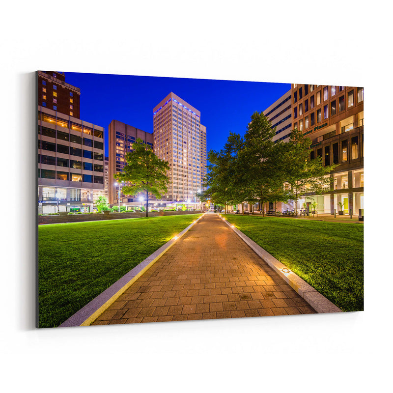 Downtown Baltimore MD Cityscape Canvas Art Print