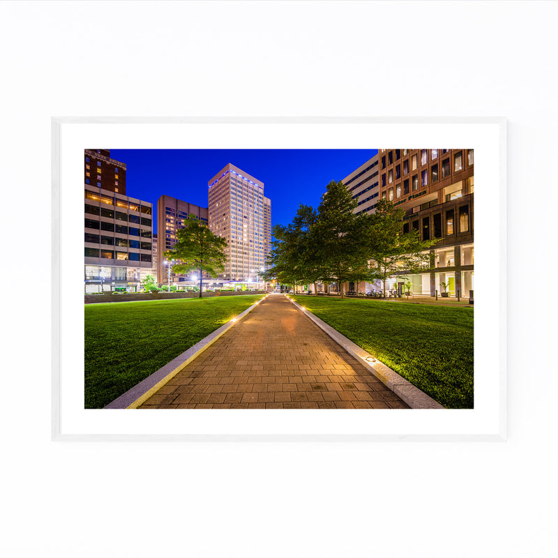 Downtown Baltimore MD Cityscape Framed Art Print