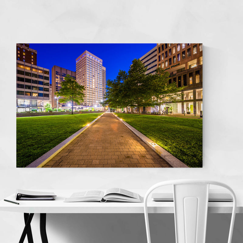 Downtown Baltimore MD Cityscape Art Print