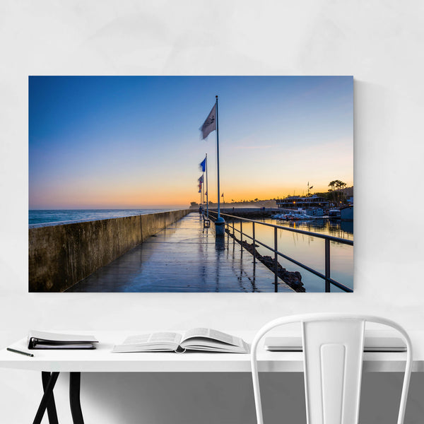 Santa Barbara California Harbor Art Print