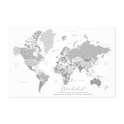 Green Wanderlust World Map Art Print