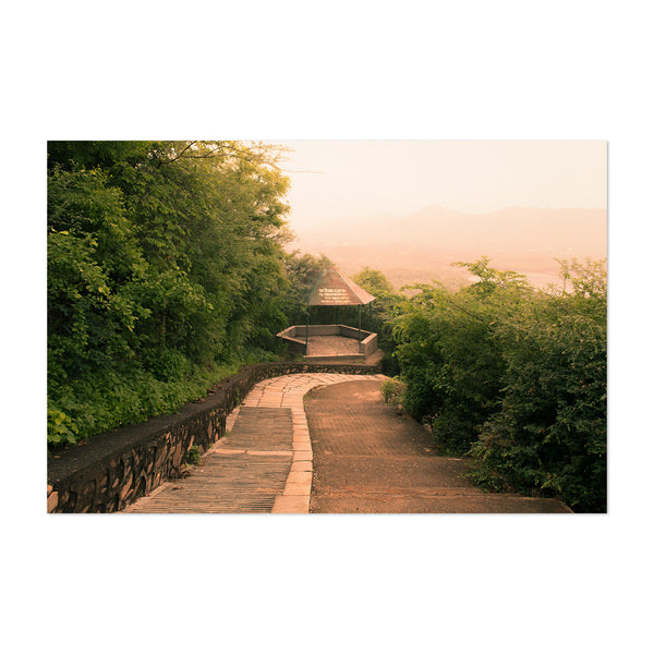 Udaipur India Scenic Path Art Print