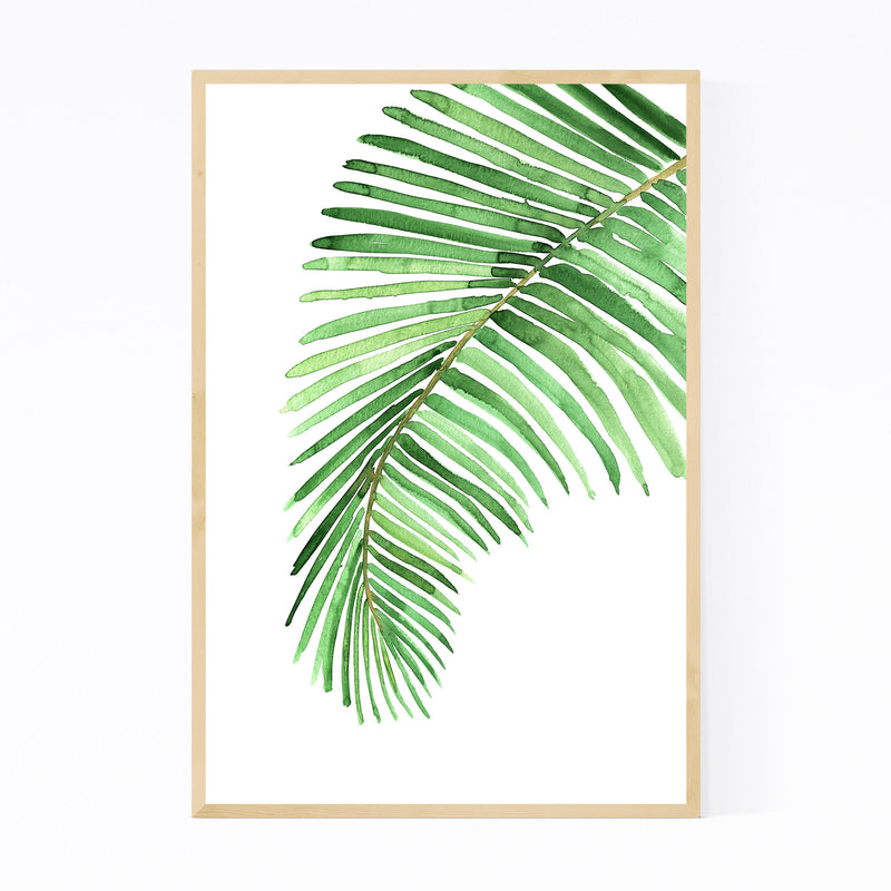 Watercolor Palm Leaf Framed Art Print