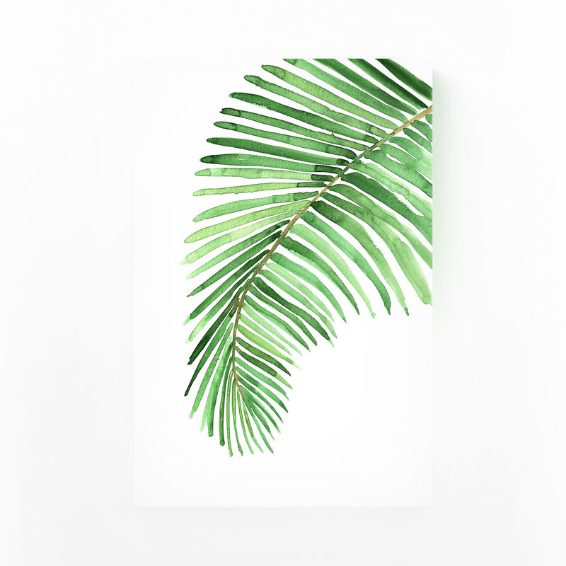 Watercolor Palm Leaf Canvas Art Print