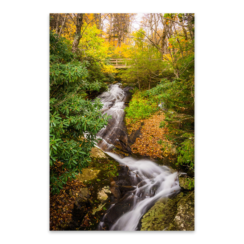 Blue Ridge Parkway Waterfall Metal Art Print