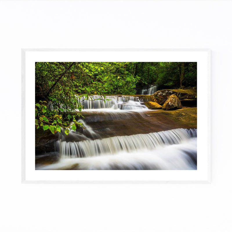 South Carolina Forest Waterfall Framed Art Print