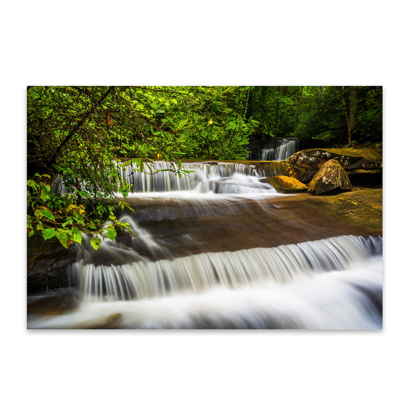 South Carolina Forest Waterfall Metal Art Print