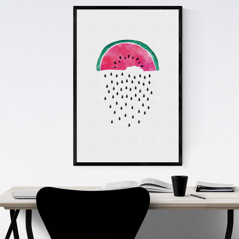 Watermelon Fruit Kitchen Food Framed Art Print