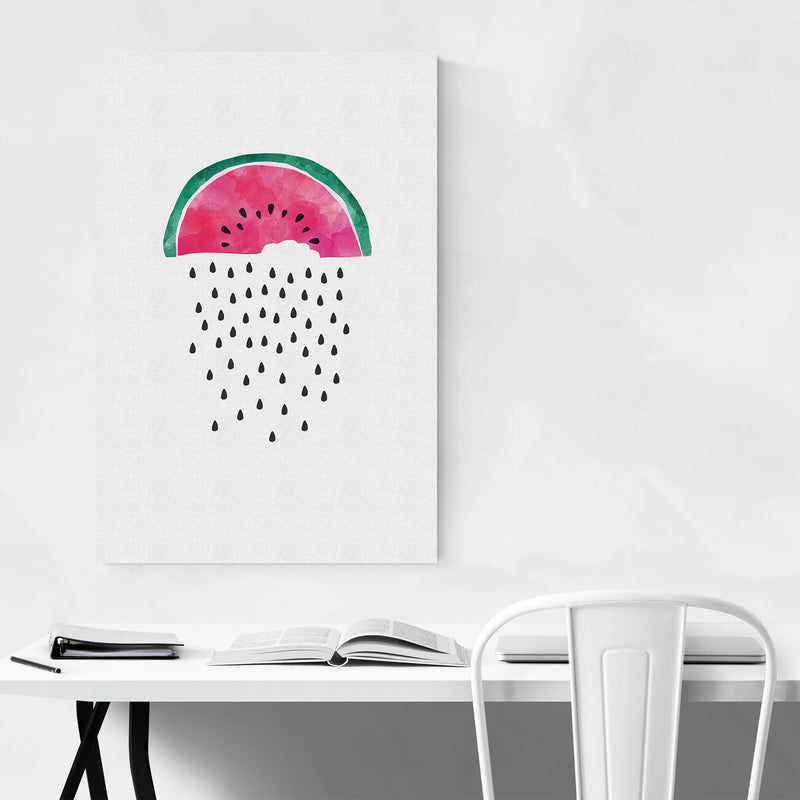 Watermelon Fruit Kitchen Food Metal Art Print