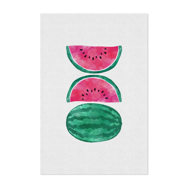 Watermelon Fruit Kitchen Food Art Print