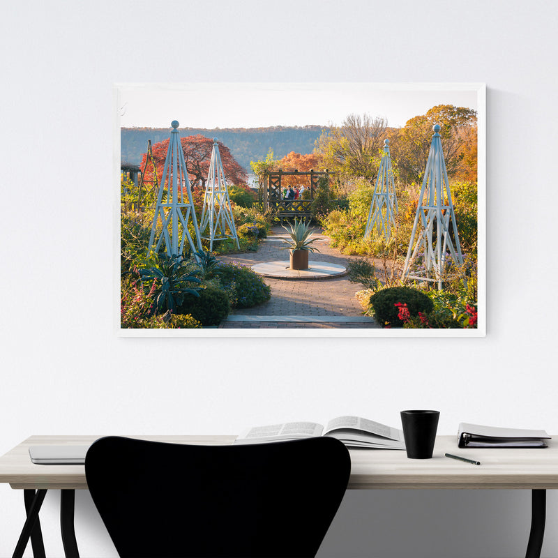 Wave Hill Gardens New York City Framed Art Print