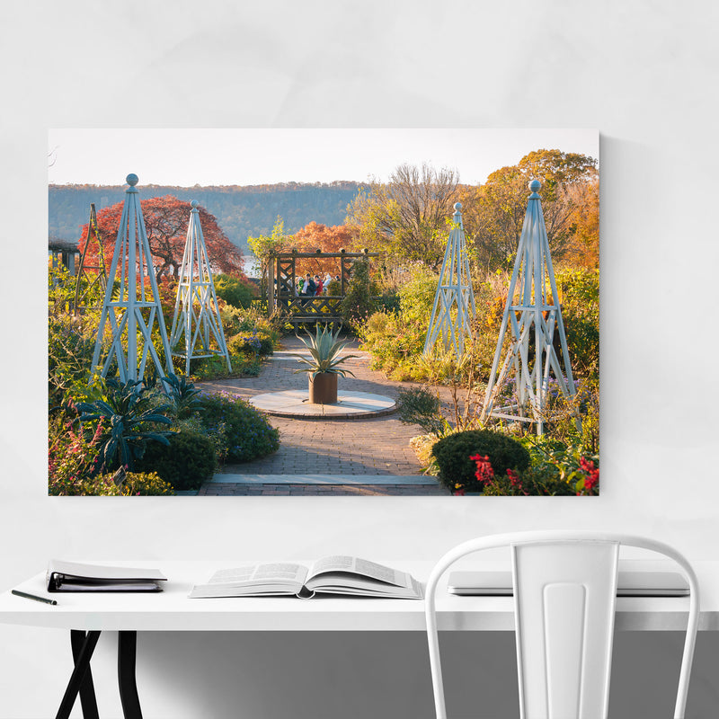 Wave Hill Gardens New York City Canvas Art Print