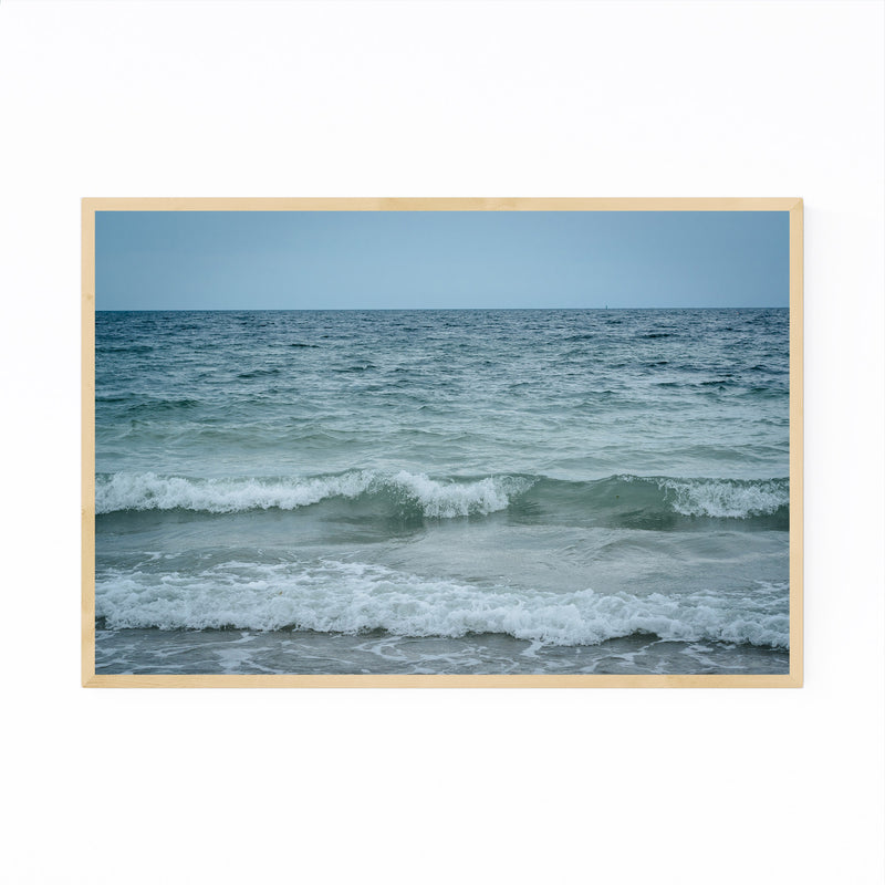 Cape Cod Beach Ocean Waves Framed Art Print