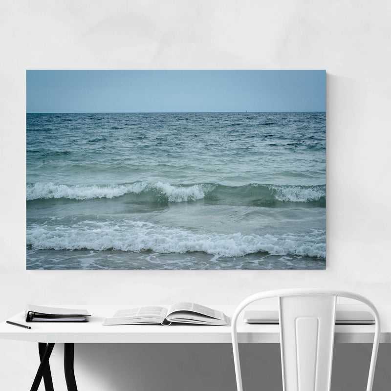 Cape Cod Beach Ocean Waves Metal Art Print