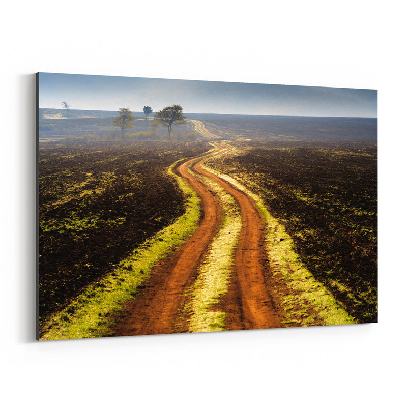 Bulgaria Autumn Fields Landscape Canvas Art Print