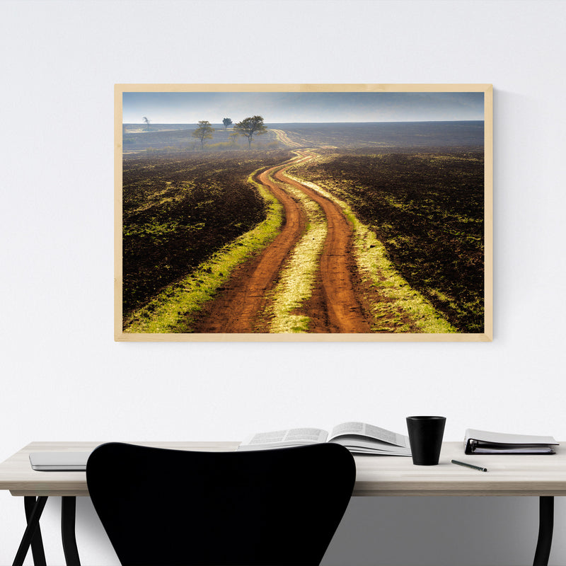 Bulgaria Autumn Fields Landscape Framed Art Print
