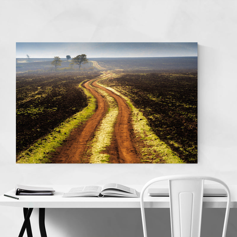 Bulgaria Autumn Fields Landscape Metal Art Print