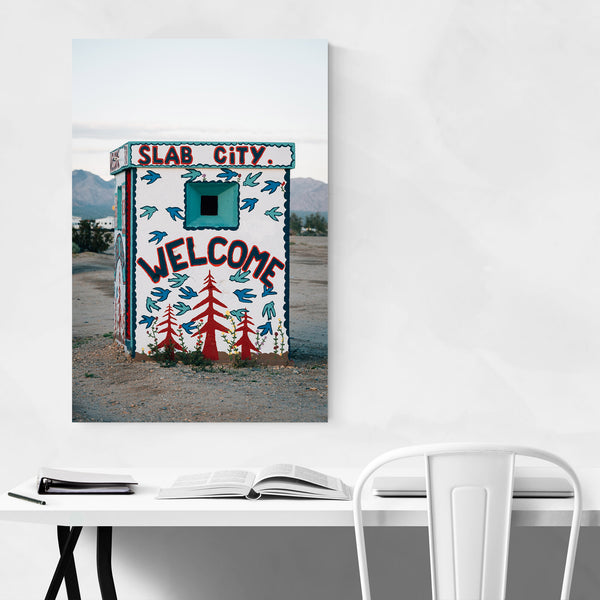 Slab City Welcome California Art Print