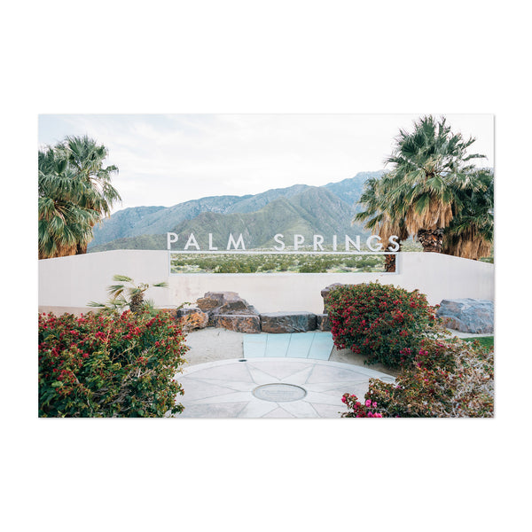 Palm Springs Sign California Art Print