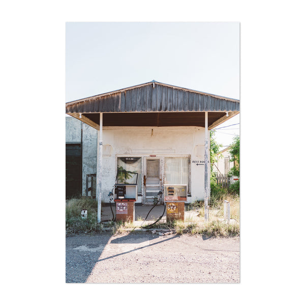 Abandoned Gas Station Marfa Art Print