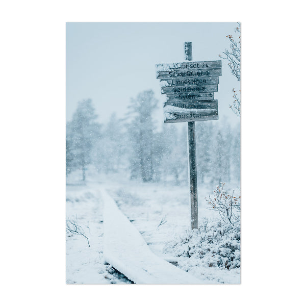 Sweden Landscape Nature Winter Art Print