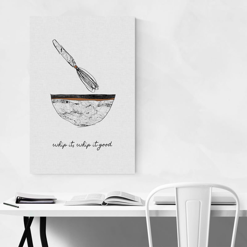 Kitchen Baking Food Quote Metal Art Print