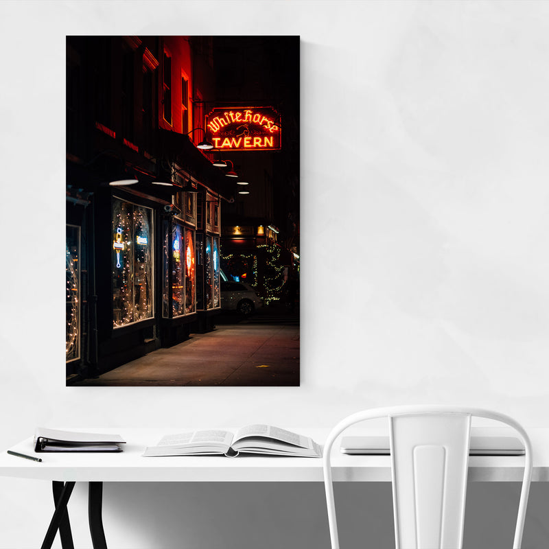 Bar Neon Sign New York City Canvas Art Print