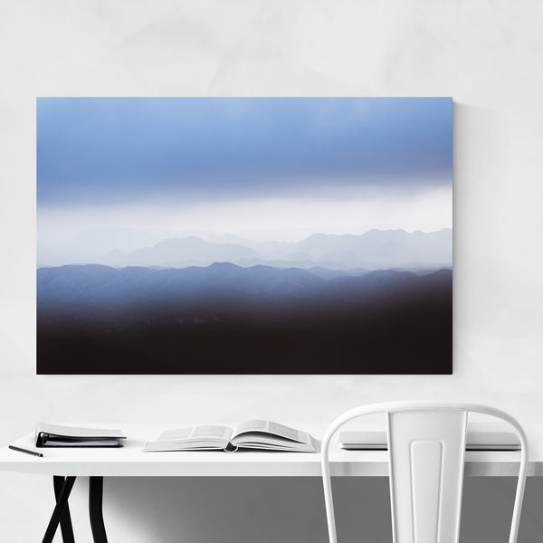 Mountain Layers Udaipur India Art Print