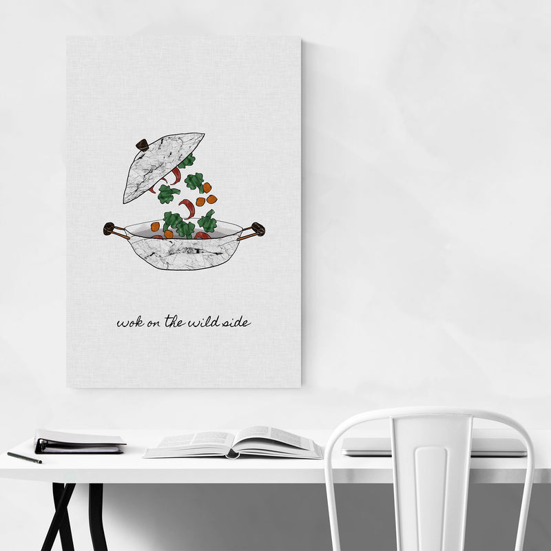 Kitchen Cooking Food Quote Art Print