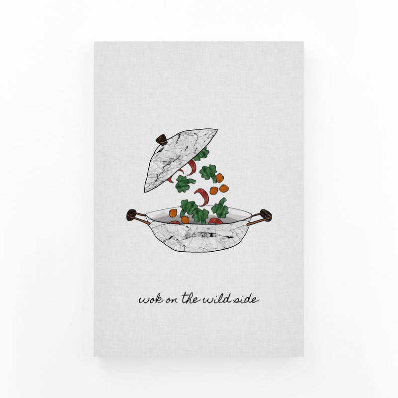Kitchen Cooking Food Quote Canvas Art Print