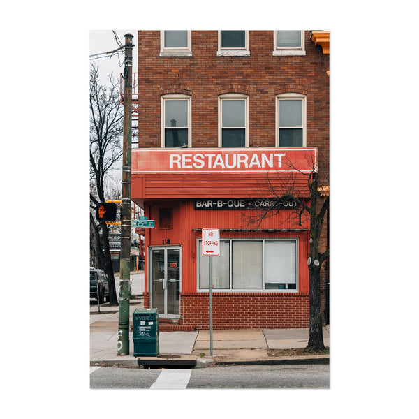 Red Restaurant Baltimore MD Art Print