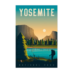 Minimal Yosemite Travel Print Art Print