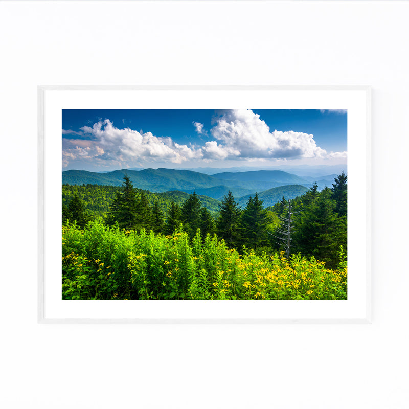 Blue Ridge Parkway Mountains Framed Art Print
