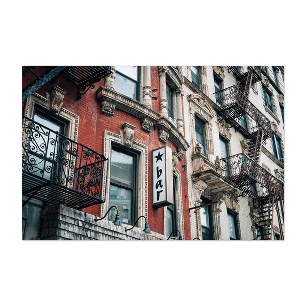 East Village NYC Bar Sign Night Art Print