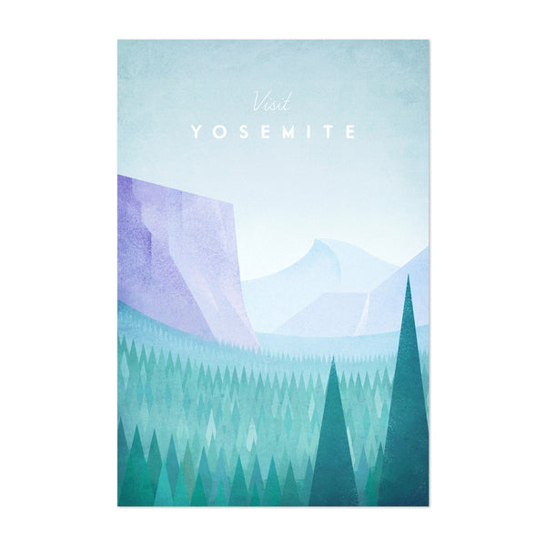 Minimal Travel Poster Yosemite Art Print