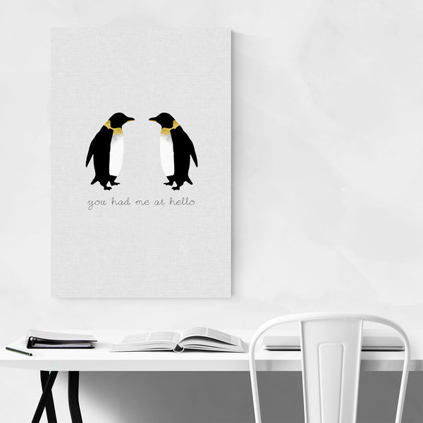 Cute Penguin Animal Love Quote Art Print